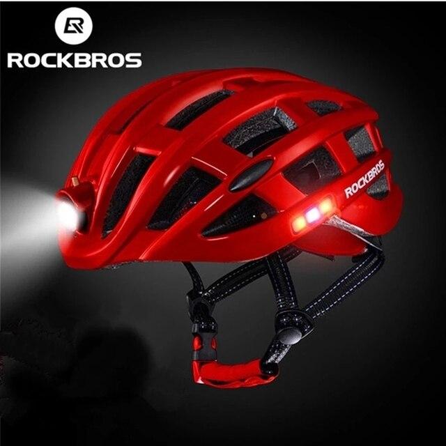 Rockbros luz ciclismo capacete da bicicleta ultraleve capacete integralmente moldado seguro 57-62cm mountain road bicicleta mtb capacetes 1