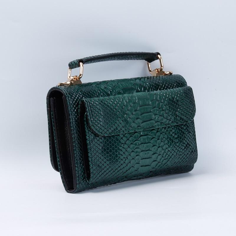 Image 2 - Real Python Snake Skin Designer Shoulder Bags Chain Crossbody Bag 2020 New Fashion Trendy BagShoulder Bags   -