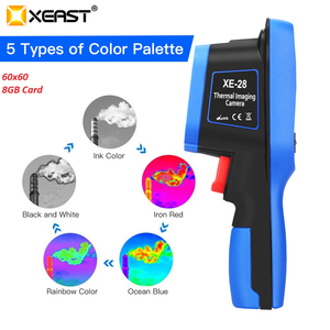 Image 3 - XEAST 2020 جديد صدر شاشة ملونة يده التصوير الحراري كاميرا تصوير حراري بالأشعة تحت الحمراء