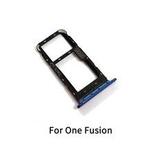 10PCS supporto per vassoio Sim per Motorola Moto One Fusion / One Fusion Plus supporto per Slot per Slot per schede SIM presa adattatore parti di riparazione