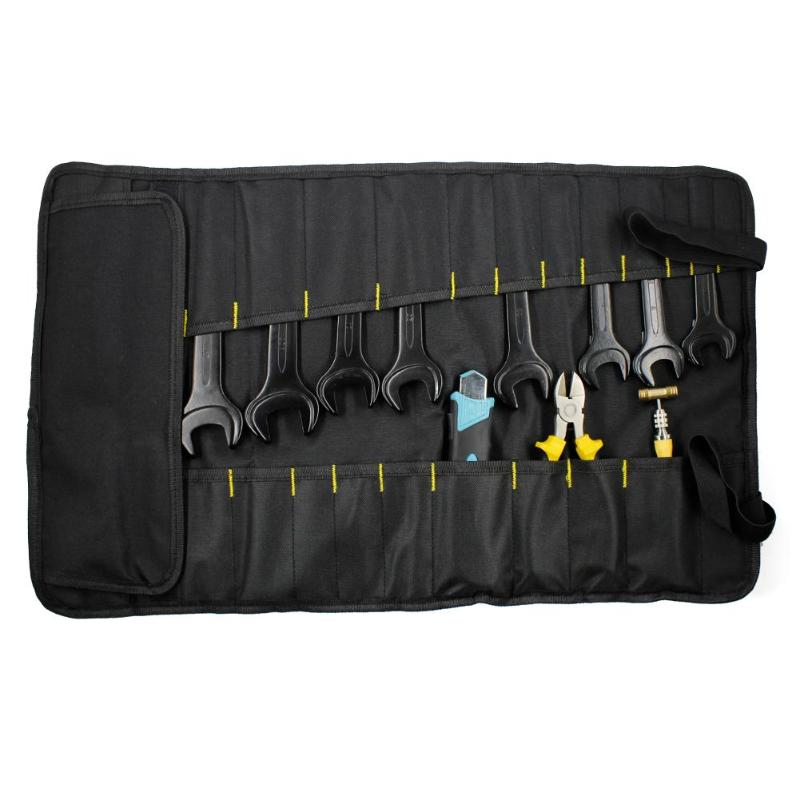 Multi-function Tool Bag Waterproof 600D Oxford Cloth Carrying Handles Folding Roll Bags Portable Toolkit Storage Organizer