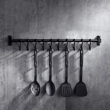 Hook-Rack Kitchenware Pantry-Bar Black Ce Utensil-Tool Aluminum-Frame Space American-Style
