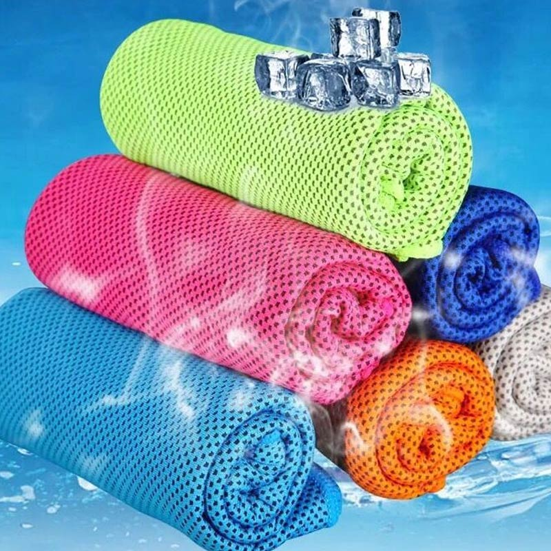 2019 Hot 90x33cm Ice Towel Utility Enduring Instant Cooling Towel Heat Relief Reusable Cool Fitness Yoga Towels T6