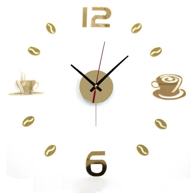 New Hot Clock Watch Wall Clocks Horloge 3d Diy Acrylic Mirror Stickers Home Decoration Living Room Quartz Needle reloj de pared 3