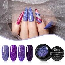Mtssii 5ml Shining Glitter Nail Gel Holographic Shimmer UV N