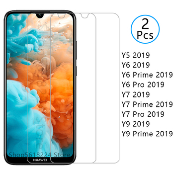 tempered glass for huawei y5 y6 y7 y9 prime 2019 pro screen protector protective glas on y 5 6 7 9 5y 6y 7y 9y y52019 y62019 9h image