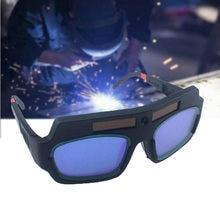 Solar Powered Auto Darkening Welding Glasses Automatic Photoelectric Argon Arc Welding Mask Helmet Goggles Welder Glasses
