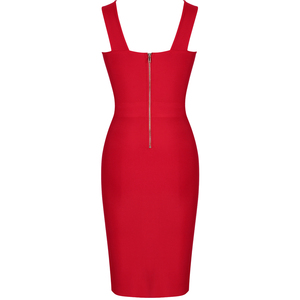 Image 5 - Ocstrade New in Runway Summer 2020 Fashion Cut Out Hot Sexy Bandage Dress Club Party Red Bandage Dress Rayon Women Bodycon Dress