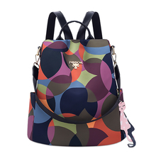 Women Backpack Fashion High Quality Waterproof Oxford Anti-theft Women Backpack Famous Brand Ladies Large Capacity Backpack 2019