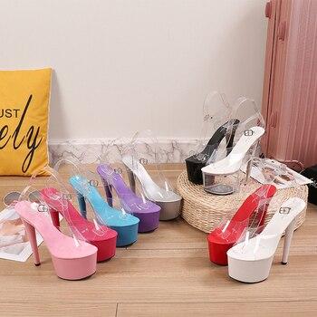 Clear Platform Stripper Heels 3
