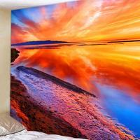 Schöne Sunset Glow Tapisserie Dekorative Wand Hängen New Seaside Landschaft Wandteppich Rechteck Wohnzimmer Badezimmer Dekor