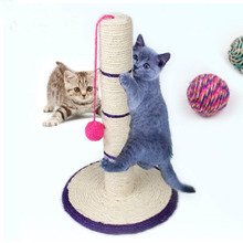 Cat Toys Tree Sisal Rope Climbing Frame DIY Cats Scratching Post Detachable For Kitten Grinding Claw