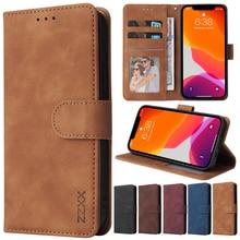Phone Case For iPhone 12 Pro Max 11 Pro XS Max XR X SE 2020 8/7//6/6S Plus Flip Card Slot Phone Case Cover