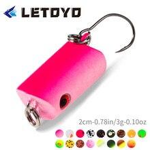 Letoyo lhb002 crankbait vib lápis isca de pesca 20mm afundando artificial japão hard bait nadar truta baixo carpa pesca enfrentar