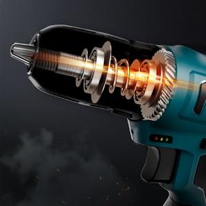 Image 3 - LOMVUM elektrikli matkap şarj edilebilir elektrikli tornavida çok fonksiyonlu elektrikli el aletleri Mini akülü matkap