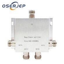 4 WAY N 1 ใน/4 Power Divider Splitter 380 ~ 2500MHz สำหรับ GSM CDMA 3G สัญญาณ Booster,เชื่อมต่อกับในร่มเสาอากาศเสาอากาศกลางแจ้ง