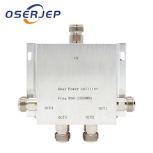 4 Way N 1 In/To 4  Power Divider Splitter 380~2500MHz for GSM CDMA 3G Signal Booster ,Connect To Indoor Antenna Outdoor antenna
