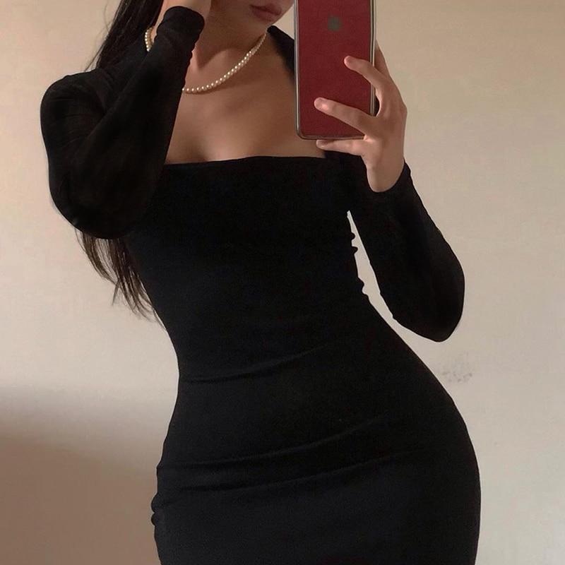 High Waist Bodycon Short Dress