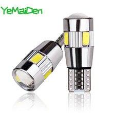 Светодиодный фонарь T10 W5W для автомобиля, 2x, 5W5, светодиодный, 12 В, 6000 К