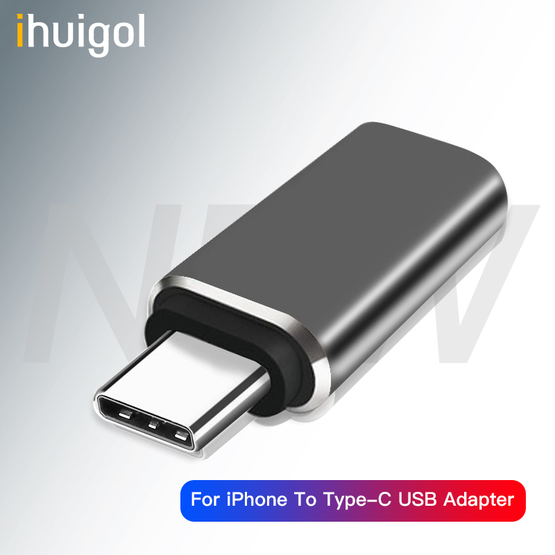 Ihuigol Type C Adapter USB-C OTG To Lighting Cable Data Sync USB C Charging Connector For Huawei P20 P30 Pro Samsung Converter