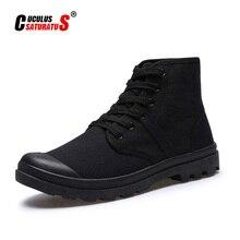 Cuculus erkekler askeri taktik botları çöl savaş açık ordu seyahat ayakkabısı deri ayak bileği erkek botları 5815