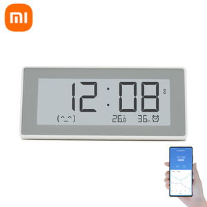 Image 1 - Xiaomi MiaoMiaoCe E קישור דיו LCD מסך דיגיטלי שעון מד לחות דיוק גבוה מדחום טמפרטורת לחות חיישן