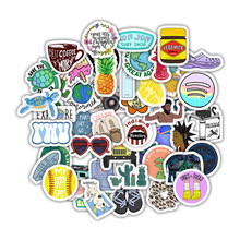 50Pcs/Pack Small Fresh Refreshing INS Style Stickers for Motorcycle  Luggage Laptop Refrigerator Motorcycle Skateboard Pegatinas