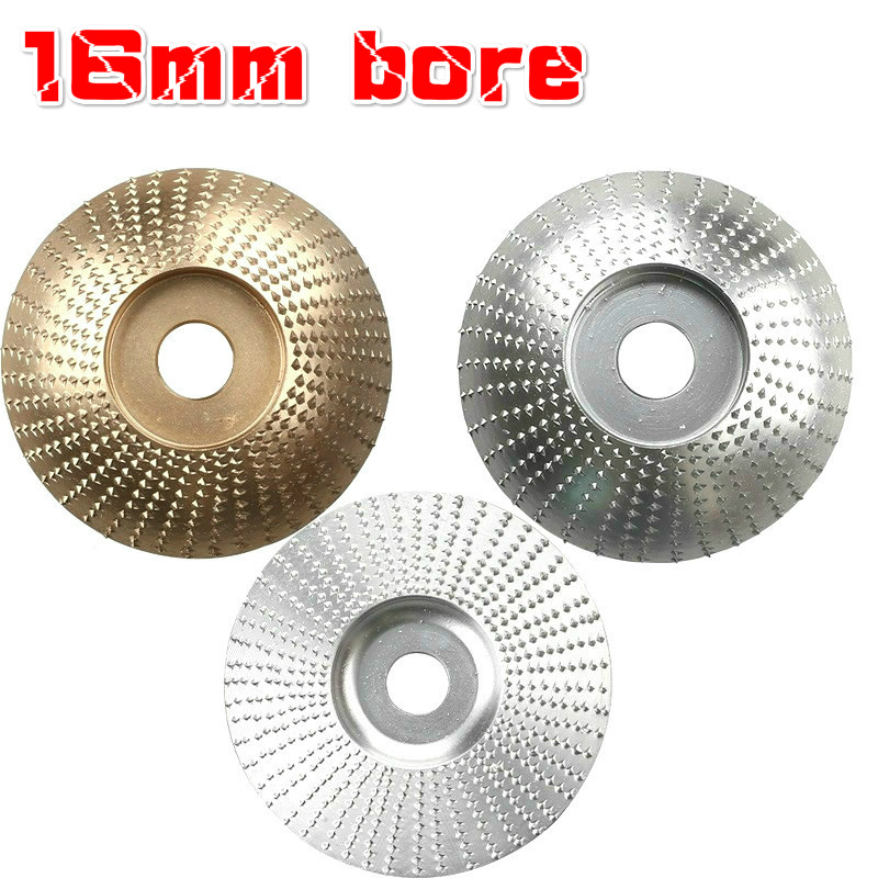 Golden Curved disc for Carving Shaping Polishing Grinding Wheel Plate 85mm 16mm, Golden Angle Grinder Disc Grinder Shaping Disc Wood Tungsten Carbide Grinding Wheel Carving Abrasive Disc