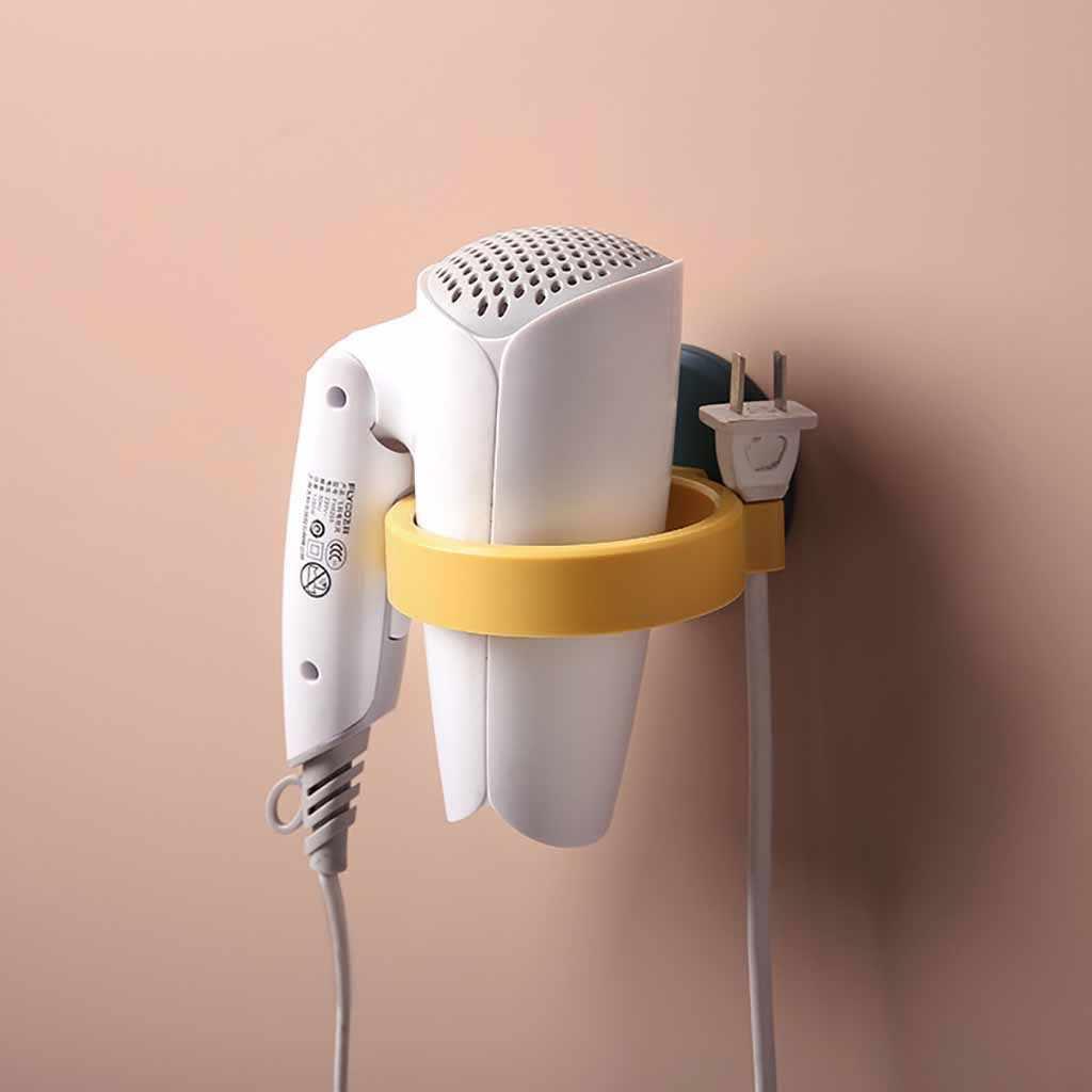تسليم سريع 2020 جديد جيد دائم الحمام الحائط الكهربائية مجفف الشعر حامل تخزين الرف الرف
