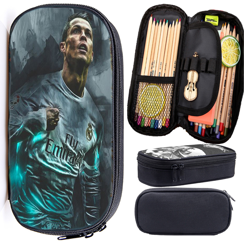 Cristiano Ronaldo CR7 Pencil Case High Quality Children Boys Girls Stationery Bag Fashion Pen Case For Kids Toddler