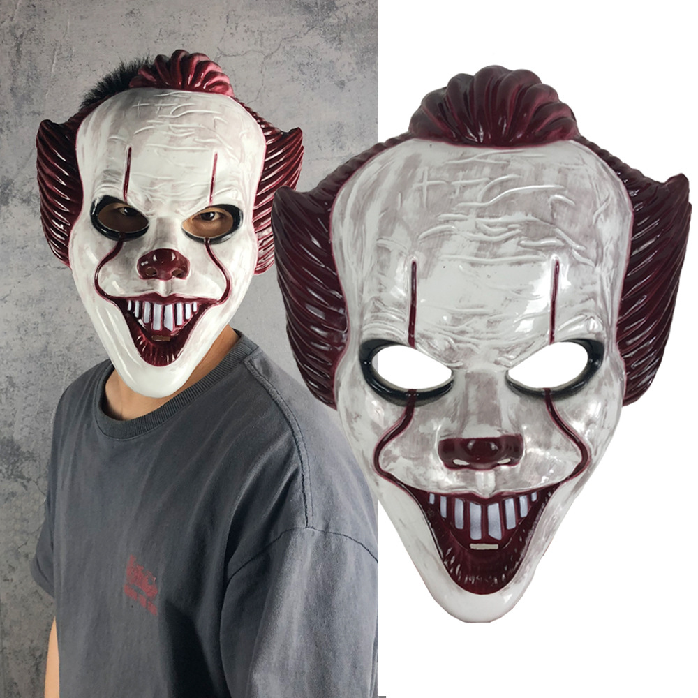 New Movie It: Chapter Two Cosplay Mask Pennywise Kids Adult Horror Scary ABS Masks Joker Party Halloween Fancy Ball Costume Prop image