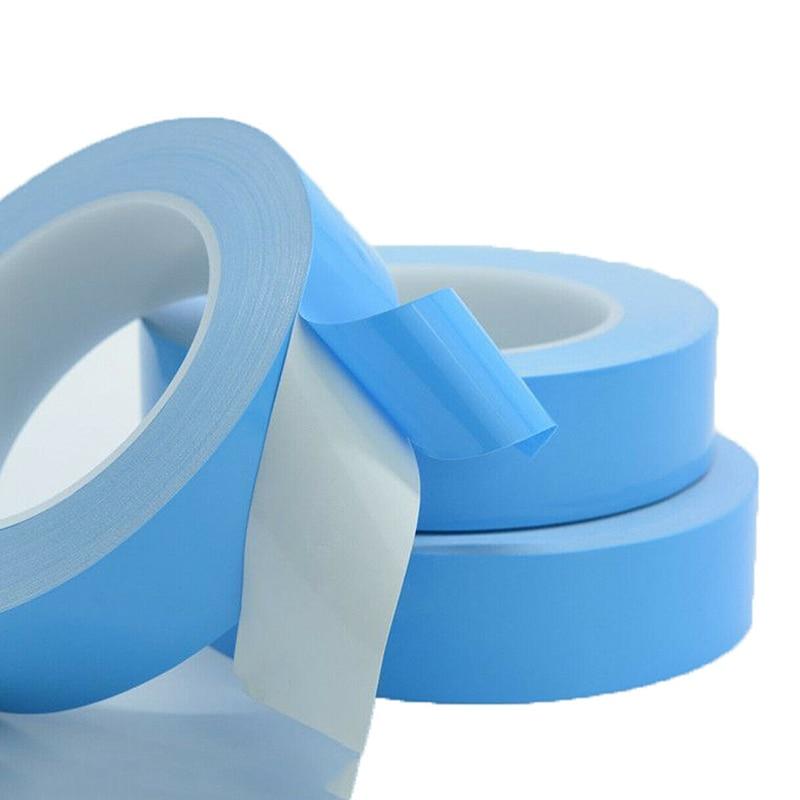 Двусторонняя Теплопроводящая клейкая лента 25 м/рулон, для чипов, ПП, светодиодных лент, радиаторов, 3 мм, 5 мм, 8 мм, 10 мм, 12 мм