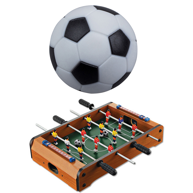 1pc Black And White Plastic Table Football Toy Machine Accessories 32mm Environmental Table Football Children Play Toys