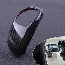 Carbon Fiber Gear Lever Shift Knob Cover Trim For Jeep Grand Cherokee 2014 2015