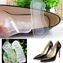 цены 1 Pcs Clear Anti-slip Gel High Heel Shoes Cushions Liner Grip Foot Care Inserts Insole Pad Silicone Heel Cushions