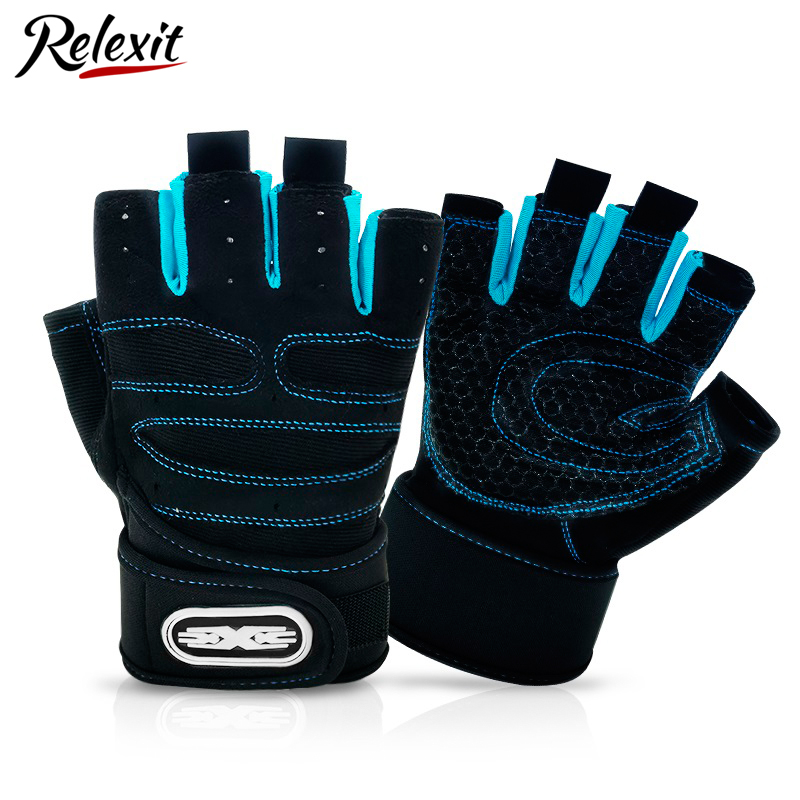 Cycling Gloves Half Finger Bike Sports Equiment Exercise Weight Lifting Gloves Body Building Training Gloves Bike Accessories