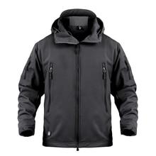 Мужская армейская камуфляжная куртка и пальто Военная тактическая куртка зимняя водонепроницаемая мягкая оболочка куртки ветровка охотничья одежда