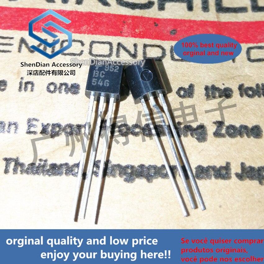 30pcs 100% Orginal New BC546 546  TO-92 Real Photo