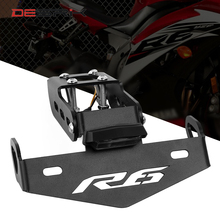 DESRIK Motorcycle License Plate Holder LED Light For Yamaha YZF R6 YZF R6 2006 2018 Accessories Tail Tidy Fender Eliminator