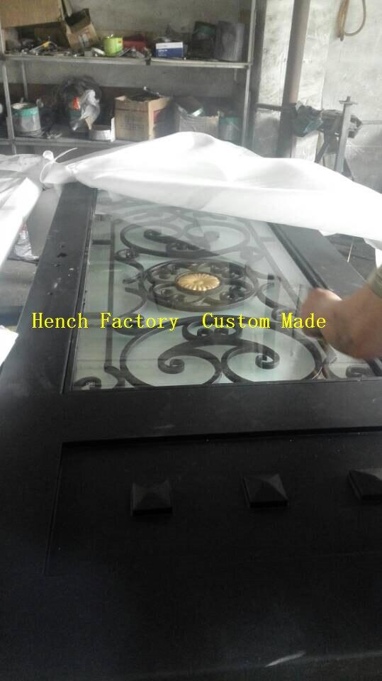Shanghai Hench Brand China Factory 100% Custom Made Sale Australia Wrought Iron Entry Doors Near Me