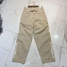 Pantalon Cargo kaki pour hommes et femmes, meilleure qualité, pantalon en Denim, mode