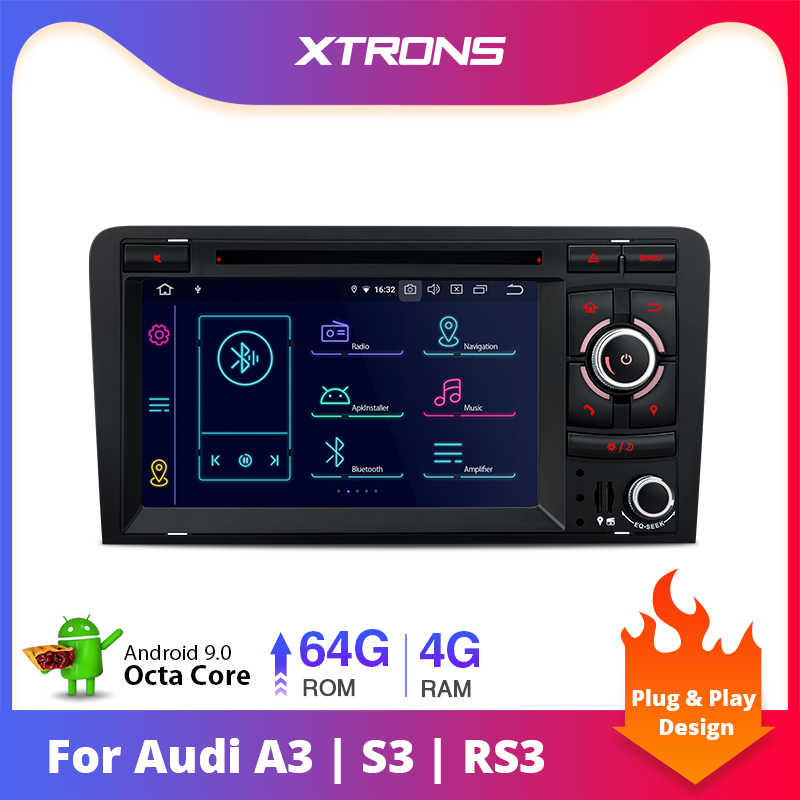 Xtrons Android 9.0 PX5 Radio Stereo Đầu DVD GPS OBD TPMS Cho Xe Audi A3 8P 2003-2012 s3 8P 2006-2012 RS3 Sportback 2011 2012