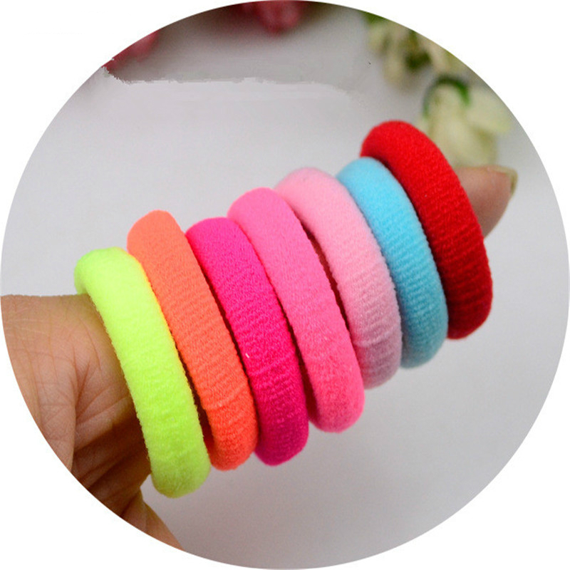 50 Pcs/LOT Hair Accessories FOR Girls And Kids RUBBER BANDS BLACK WHITE 2018 The Ponytail Holder Elastic Hair Bands