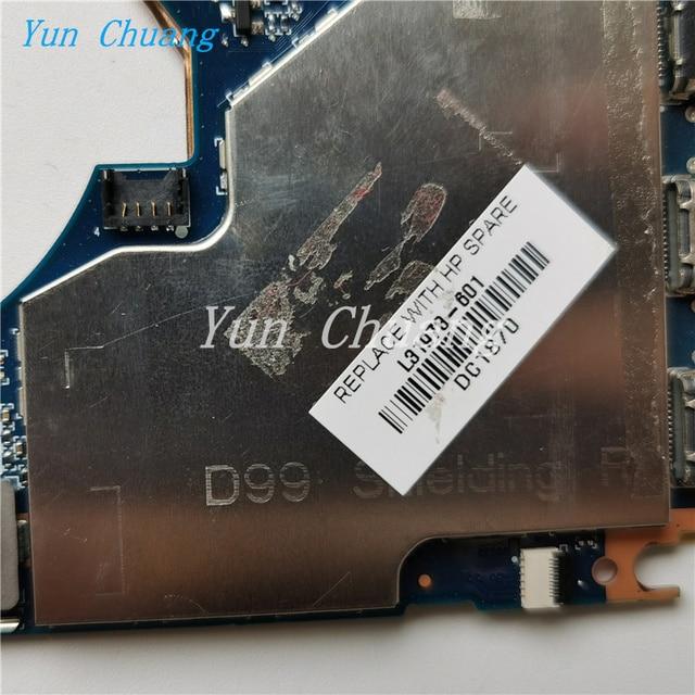 DA0D99MBAH0 L31341-601 L31978-601 For HP Elite X2 1013 G3 Laptop Motherboard L31341-001 with i7-8550U CPU 16GB-RAM 100% test ok 4