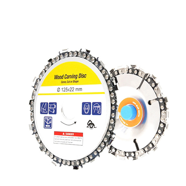 4/4.5/5 Inch Wood Craving Disc Grinder Chain Discs Chain Saws Disc Angle Grinder Disc Abrasive Cutting Disc Circular Saw Blade