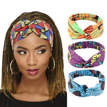 Cotton Headband Hair-Accessories Salon Make-Up-Hair-Band African Stretch Printed Wide
