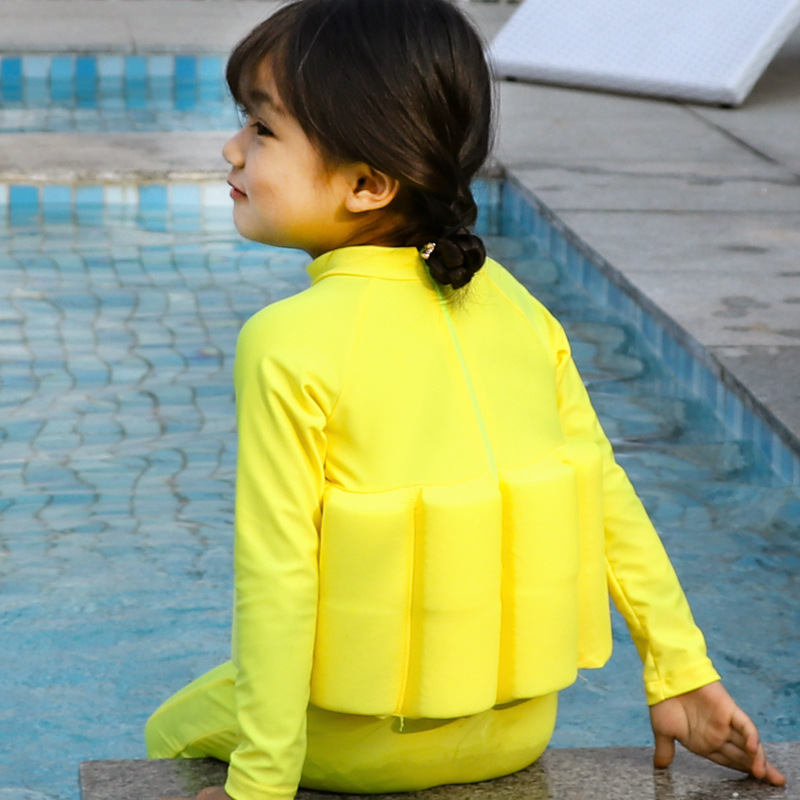 Wave Die Yi CHILDREN'S Buoyancy Swimsuit Baby Girls GIRL'S BABY'S Bathing Suit One-piece Long Sleeve Floating Bathing Suit