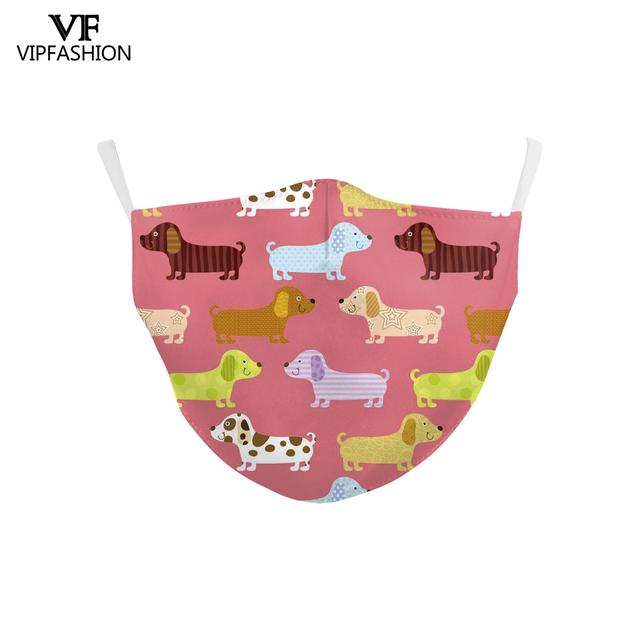 VIP FASHION Reusable Children's Cartoon Anime Unicorn Cute Printed Kid Face Masks Protective PM.25 Dustproof Haze Mask 4