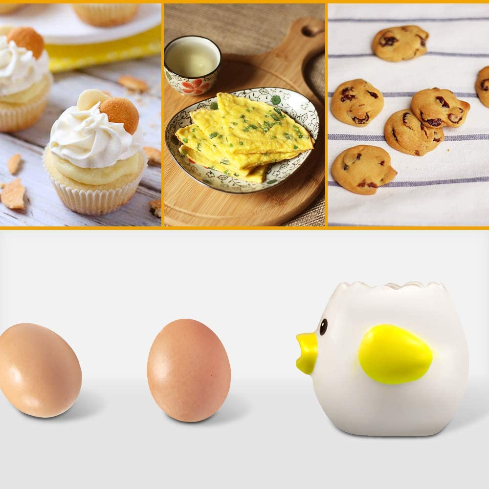 Ceramic Egg Separator for Baking Creative Egg Separator Egg Yolk  Separator Kitchen Gadgets Baking Toaol Automatic Separating