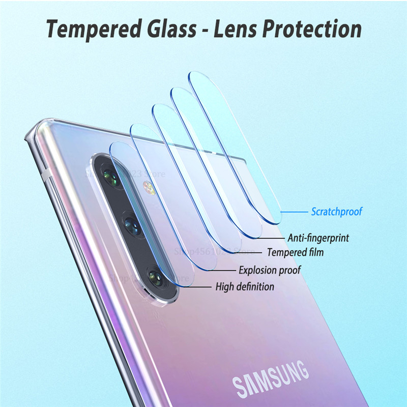 2 In 1 on For Samsung Galaxy Note 10 Plus Tempered Glass Screen Protector Protective for Galaxy Note 10 Pro Note10 Camera Glass in Phone Screen Protectors from Cellphones Telecommunications